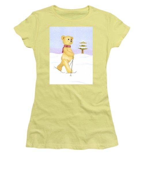 Women's T-Shirt (Junior Cut) featuring the painting Bear by Elizabeth Lock
