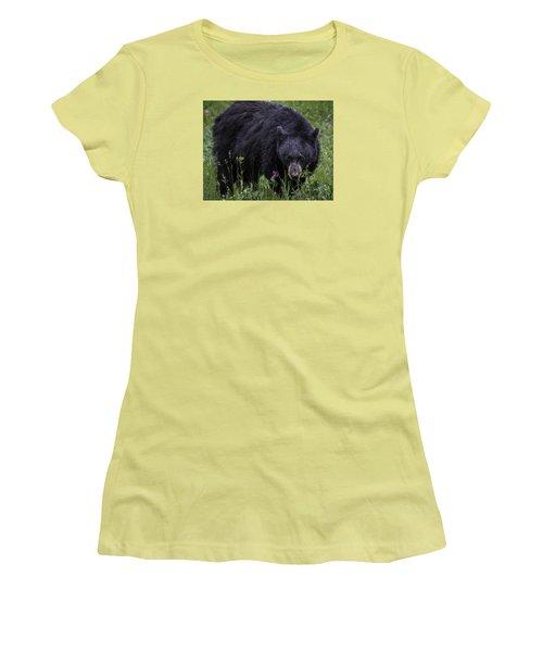 Bear Gaze Women's T-Shirt (Junior Cut) by Elizabeth Eldridge