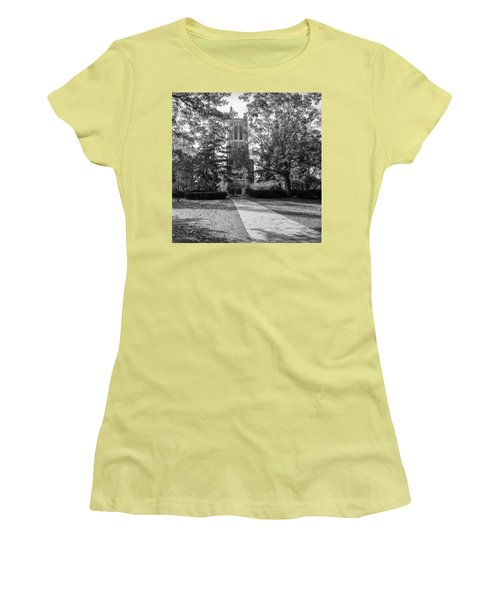 Women's T-Shirt (Junior Cut) featuring the photograph Beaumont Tower by Larry Carr