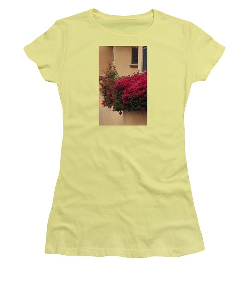 Beautiful Balcony With Bougainvillea Women's T-Shirt (Athletic Fit)