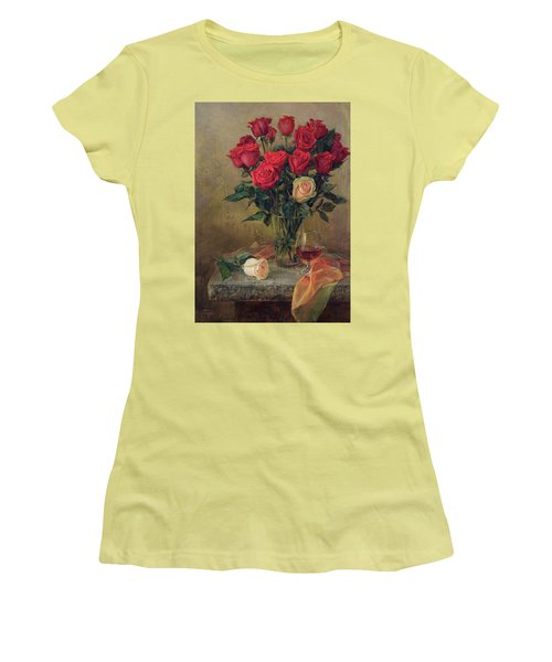 Beautiful Bouquet Of Roses Women's T-Shirt (Athletic Fit)