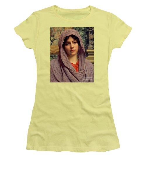 Beautiful Brunette 1918 Women's T-Shirt (Junior Cut) by Padre Art
