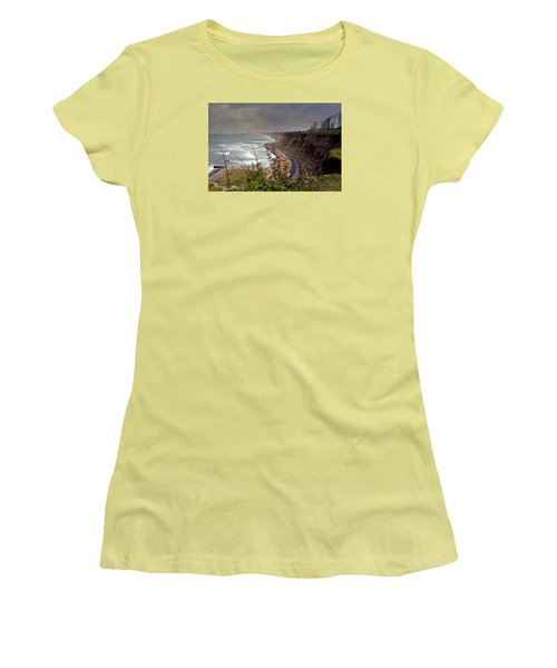 Beautiful Coastline Of Lima Women's T-Shirt (Athletic Fit)
