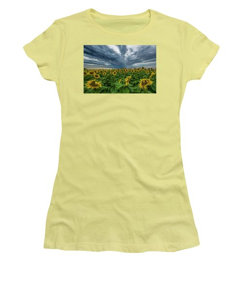 Women's T-Shirt (Junior Cut) featuring the photograph Beautiful Disaster  by Aaron J Groen