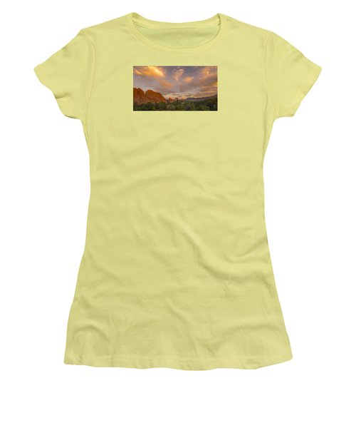 Women's T-Shirt (Junior Cut) featuring the photograph Beautiful Earth And Sky by Tim Reaves