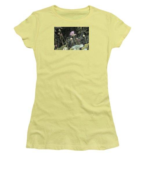 Women's T-Shirt (Junior Cut) featuring the photograph Beautiful Indian Lotus by Odon Czintos