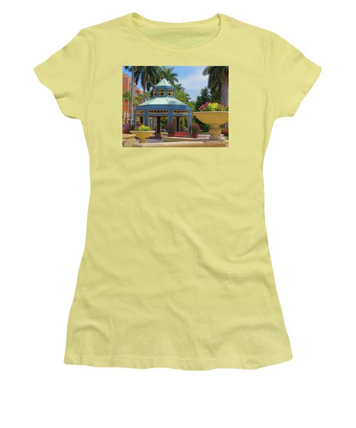 Beautiful Mizner Park In Boca Raton, Florida. #2  Women's T-Shirt (Athletic Fit)