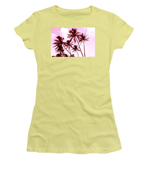 Beautiful Palms Of Maui 13 Women's T-Shirt (Junior Cut) by Micah May
