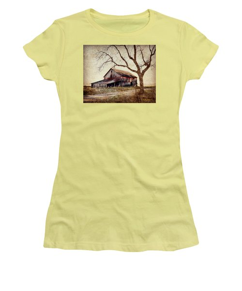 Beautiful Red Barn-near Ogden Women's T-Shirt (Junior Cut) by Kathy M Krause