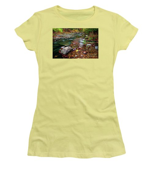 Beaver's Bend Tiny Stream Women's T-Shirt (Athletic Fit)