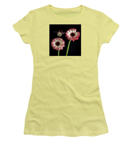 Bee Happy Women's T-Shirt (Junior Cut) by Shirley Mitchell