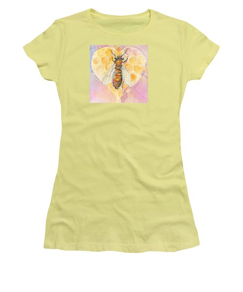 Bee Heart Women's T-Shirt (Athletic Fit)