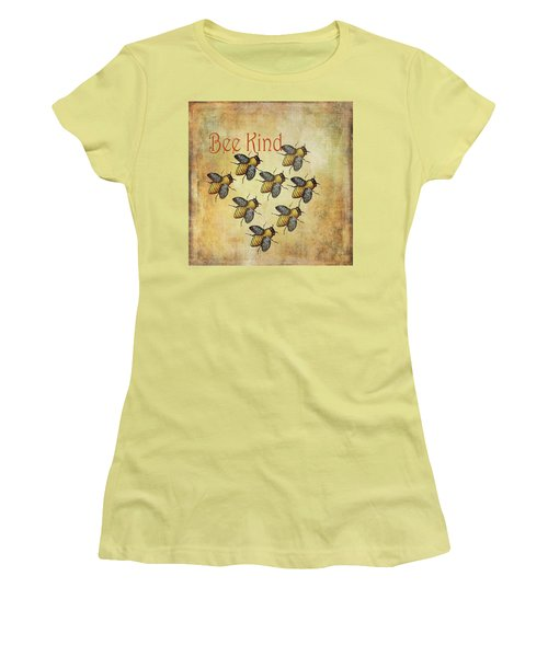 Bee Kind Women's T-Shirt (Athletic Fit)
