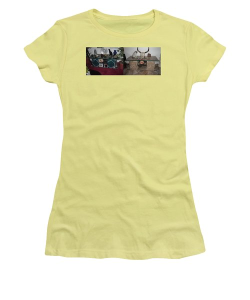 Before And After Women's T-Shirt (Junior Cut) by Val Oconnor
