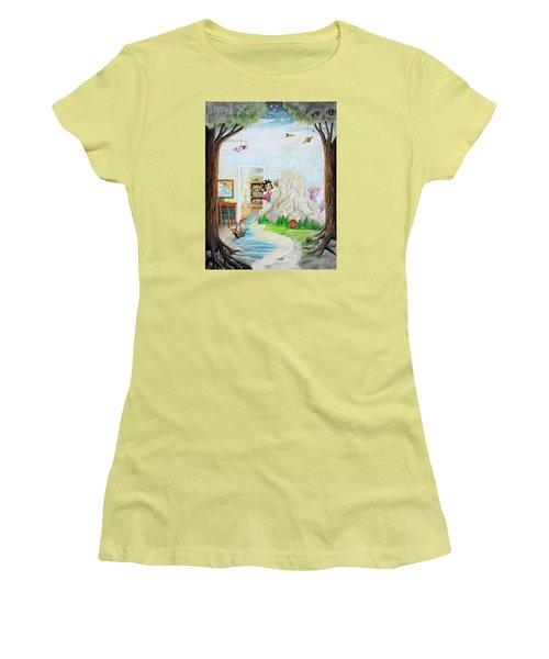 Beginning A Book Women's T-Shirt (Junior Cut) by Matt Konar
