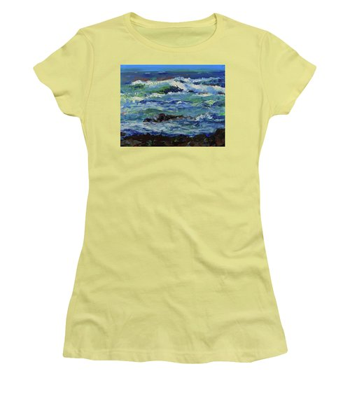 Women's T-Shirt (Athletic Fit) featuring the painting Beginning Of A Storm by Walter Fahmy
