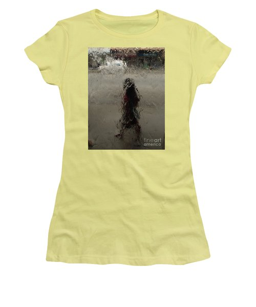 Behind Glass Women's T-Shirt (Athletic Fit)