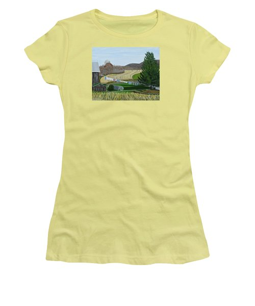 Beiler's View Of Egg Hill Women's T-Shirt (Athletic Fit)