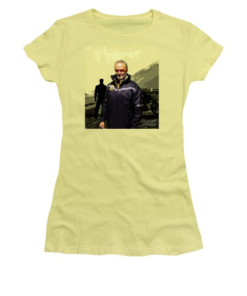 Women's T-Shirt (Junior Cut) featuring the photograph Being In The Movie IIi by Al Bourassa