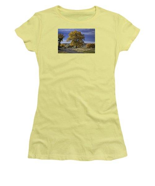 Belfry Fall Landscape 5 Women's T-Shirt (Athletic Fit)