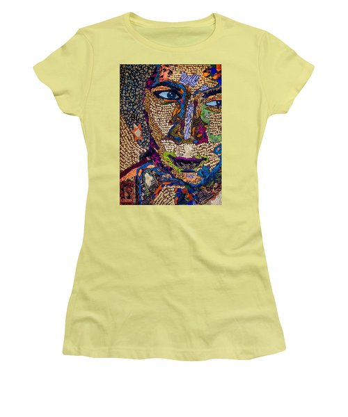 Bell Hooks Unscripted Women's T-Shirt (Junior Cut) by Apanaki Temitayo M