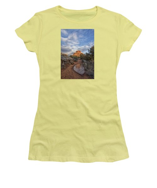 Women's T-Shirt (Junior Cut) featuring the photograph Bell Rock Beckons by Tom Kelly