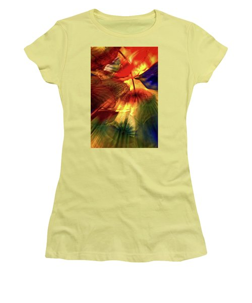 Bellagio Ceiling Sculpture Abstract Women's T-Shirt (Athletic Fit)