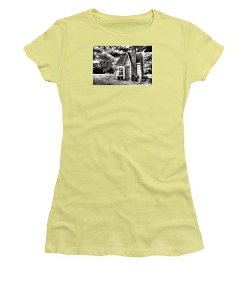 Women's T-Shirt (Junior Cut) featuring the digital art Bem Store Pumphouse by William Fields
