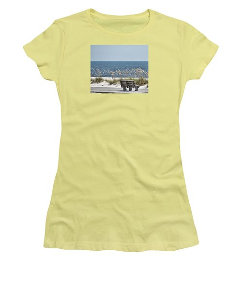 Bench At The Beach Women's T-Shirt (Athletic Fit)