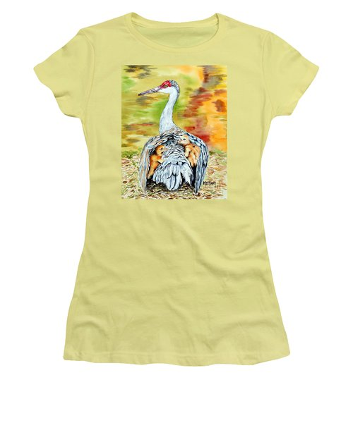 Beneath My Wings Women's T-Shirt (Junior Cut) by Maria Barry