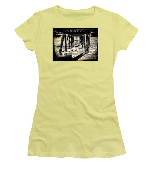 Women's T-Shirt (Junior Cut) featuring the photograph Beneath by William Wyckoff