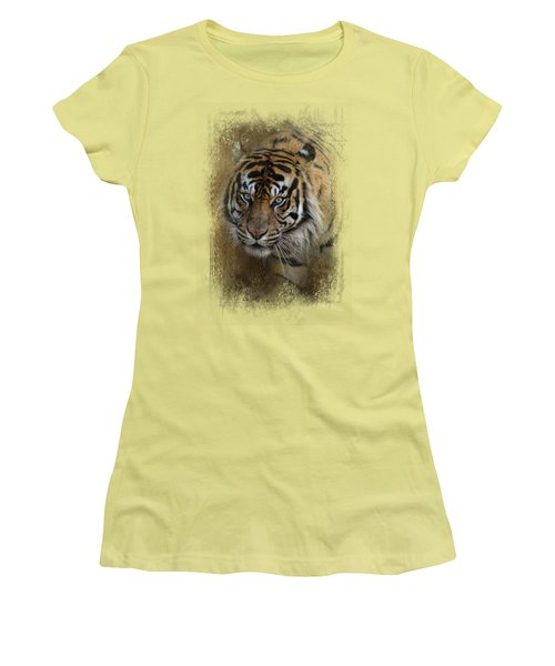 Bengal Stare Women's T-Shirt (Junior Cut) by Jai Johnson