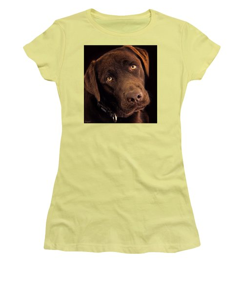 Women's T-Shirt (Athletic Fit) featuring the photograph Benji by Wallaroo Images
