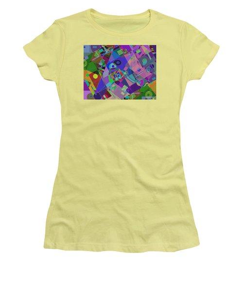 Bent Shapes 14 Women's T-Shirt (Junior Cut) by Lynda Lehmann