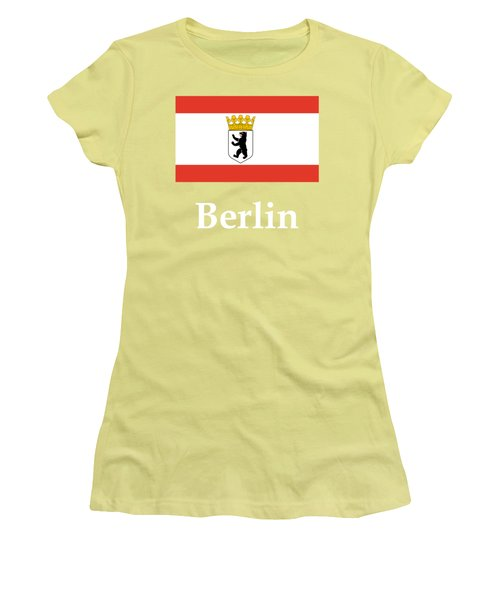 Berlin, Germany Flag And Name Women's T-Shirt (Athletic Fit)