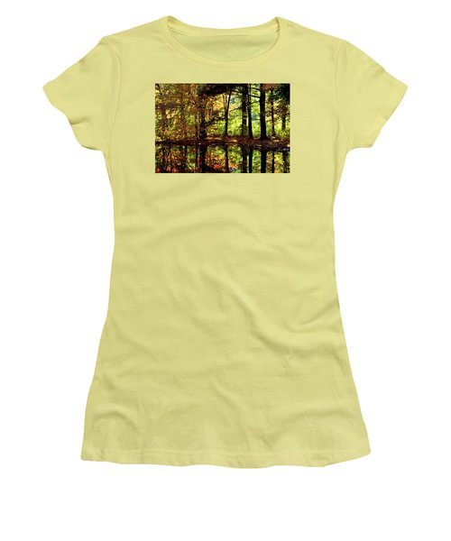 Bernharts Dam Fall 006 Women's T-Shirt (Junior Cut) by Scott McAllister