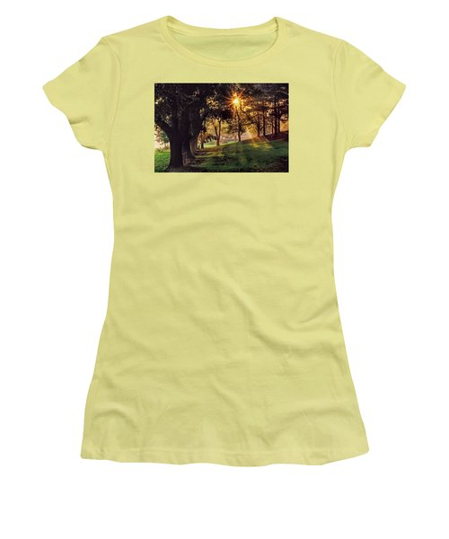 Bernharts Dam Fog 001 Women's T-Shirt (Junior Cut) by Scott McAllister