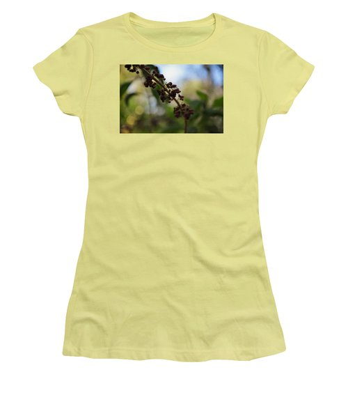Women's T-Shirt (Junior Cut) featuring the photograph Berry Branch by Artists With Autism Inc