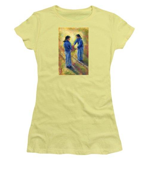Best Friends Women's T-Shirt (Junior Cut) by Retta Stephenson