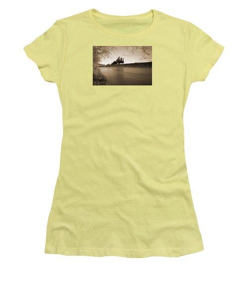 Bethlehem Steel Along The Lehigh Women's T-Shirt (Junior Cut) by Jennifer Ancker