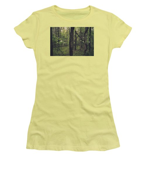 Women's T-Shirt (Junior Cut) featuring the photograph Between The Dogwoods by Shane Holsclaw