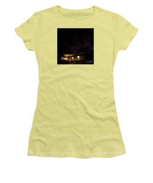 Big Dipper Over Hike Inn Women's T-Shirt (Junior Cut) by Barbara Bowen