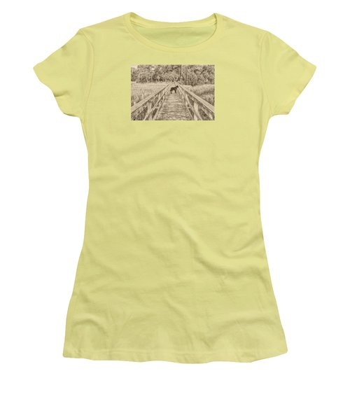 Women's T-Shirt (Junior Cut) featuring the photograph Big Dog by Margaret Palmer