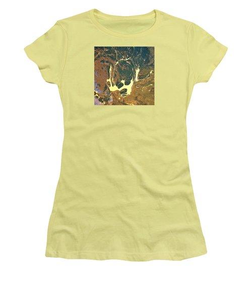 Big Headed Side Rocket Women's T-Shirt (Athletic Fit)