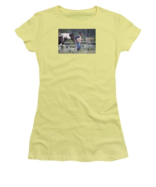 Big Horn Cowboy Women's T-Shirt (Athletic Fit)
