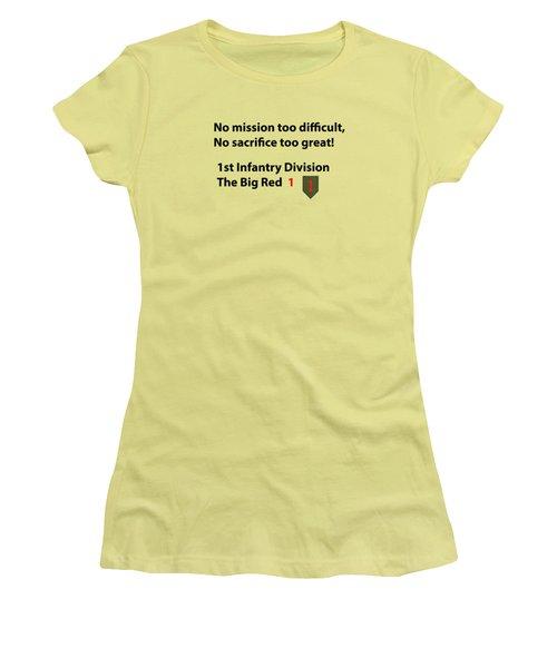 Big Red One Women's T-Shirt (Junior Cut) by Dan McManus