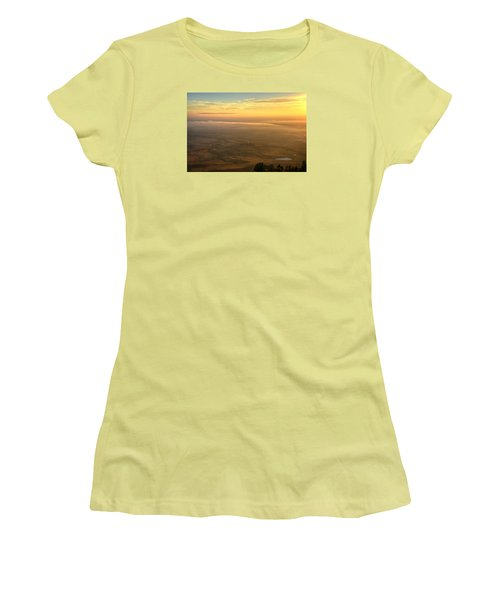 Bighorn Sunrise Women's T-Shirt (Junior Cut) by Fiskr Larsen