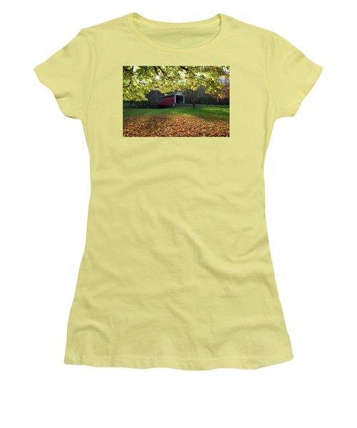 Billy Creek Bridge Women's T-Shirt (Junior Cut) by Joanne Coyle