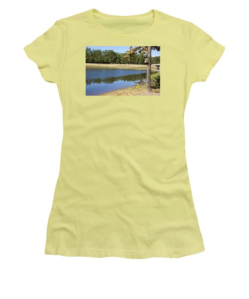 Bird House Lake Women's T-Shirt (Athletic Fit)