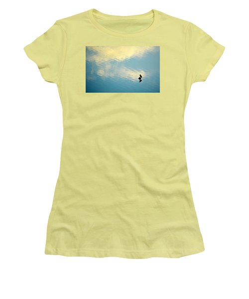 Bird Reflection Women's T-Shirt (Junior Cut) by AJ Schibig